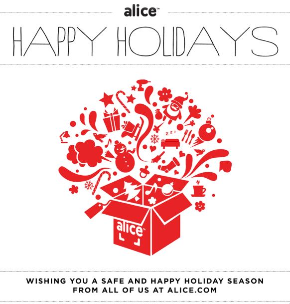 happy holidays from alice.com